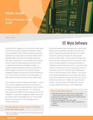 Nlyte Audit Datasheet