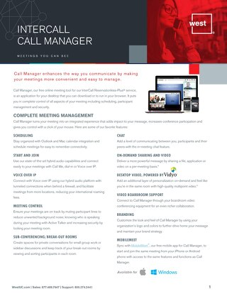 Call Manager - Overview