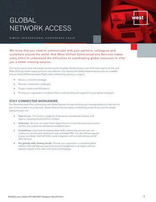 Global Network Access Overview
