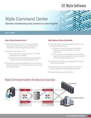 Nlyte Command Center Data Sheet