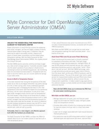 Nlyte Connector for Dell OMSA Data Sheet