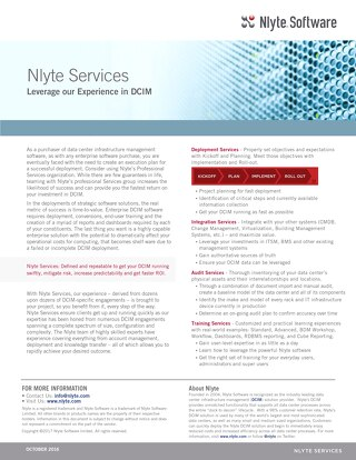 Nlyte Services Data Sheet