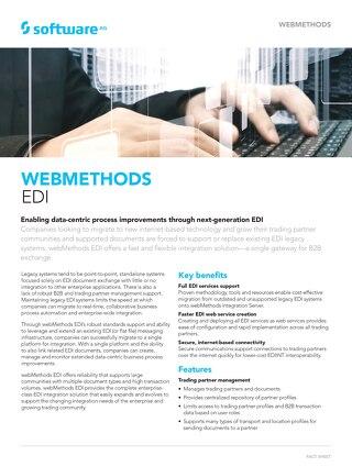 Get the facts about webMethods EDI