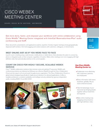 Cisco WebEx Meeting Center Overview