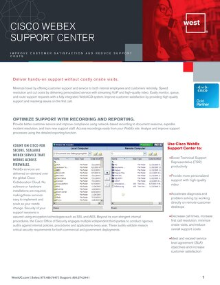 Cisco WebEx Support Center Overview