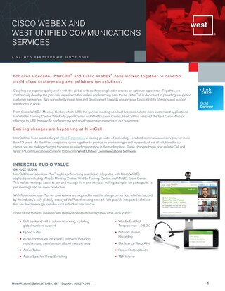 Cisco WebEx West Partnership