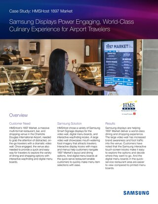 Case Study: Samsung Displays Power Engaging, World-Class Culinary Experience for Airport Travelers