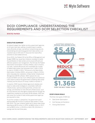DCOI Compliance: Understanding the Requirements and DCIM Selection Checklist