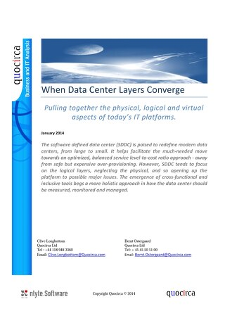 Quocirca White Paper When Data Center Layers Converge