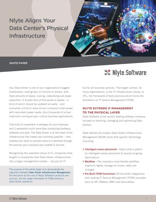Nlyte Aligns Your Data Centers Physical Infrastructure