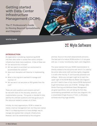 Getting Started With Data Center Infastructure Managment  DCIM