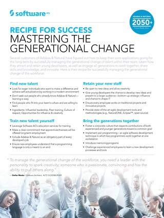 Managing generational change