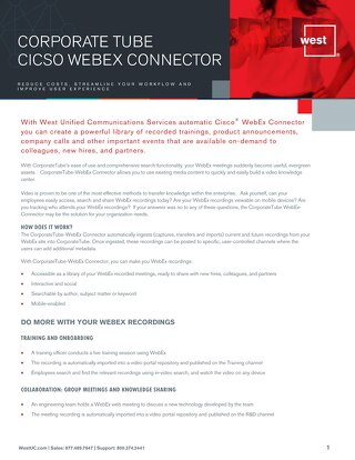 CorporateTube Cisco WebEx Overview