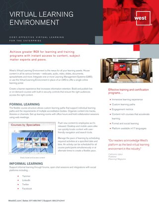 Virtual Learning Environment Overview