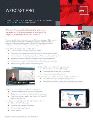 Webcast Pro Overview