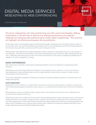 Webcasting vs. Web Conferencing