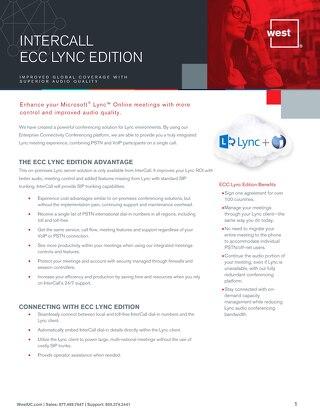 ECC Lync Edition Overview