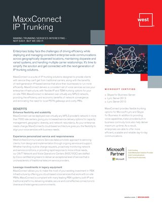 MaxxConnect SIP Trunking Overview