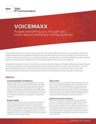 VoiceMaxx Sell Sheet