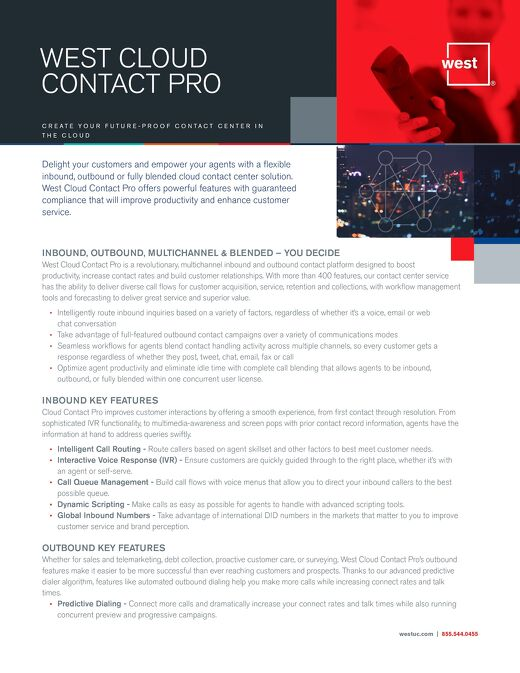 West Cloud Contact Pro (formerly Magnetic North contact center)