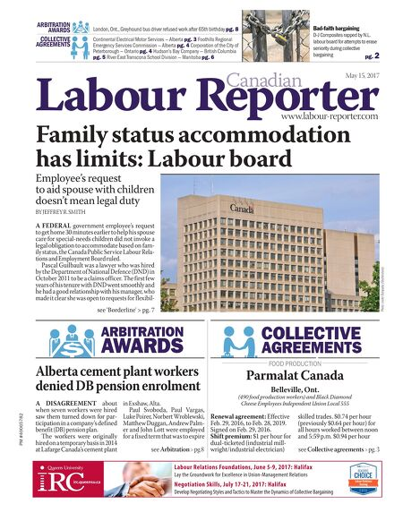 Canadian Labour Reporter May 15 2017