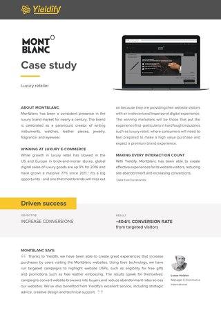 Yieldify case study - Montblanc