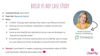 Uberflip-Totango Build vs Buy Case Study