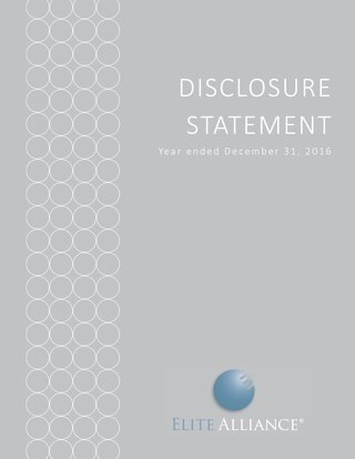 Elite Alliance Disclosure Statement - Year Ending December 31 2
