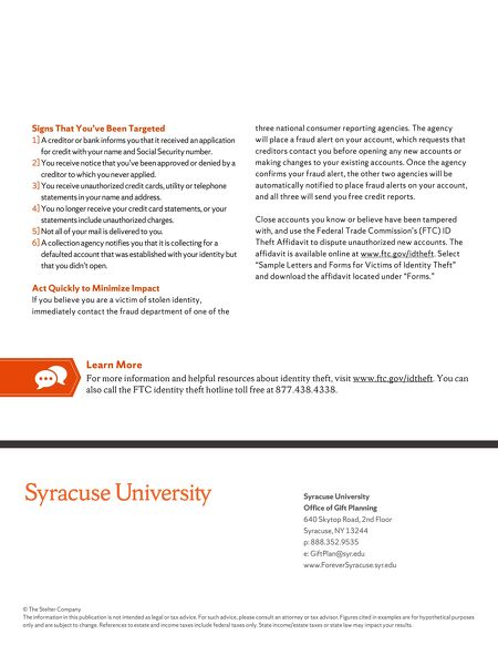 Syracuse university identity theft rx contents of this issue spiritdancerdesigns Image collections