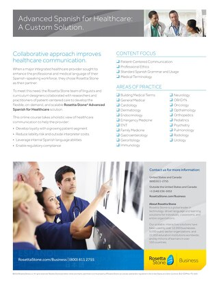 Rosetta Stone® Advanced Spanish for Healthcare