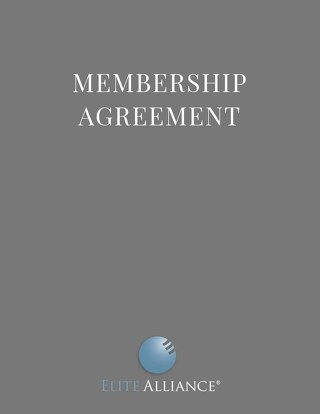 Elite Alliance- Membership Agreement