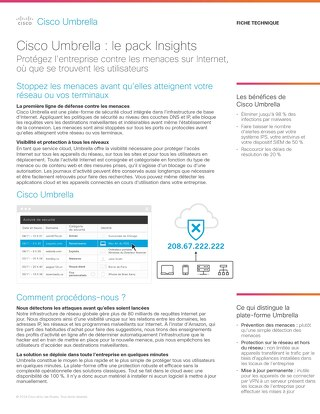 Cisco Umbrella : le pack Insights