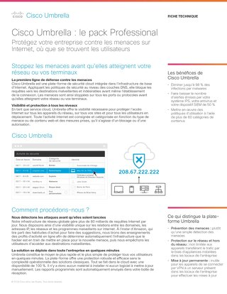 Cisco Umbrella : le pack Professional