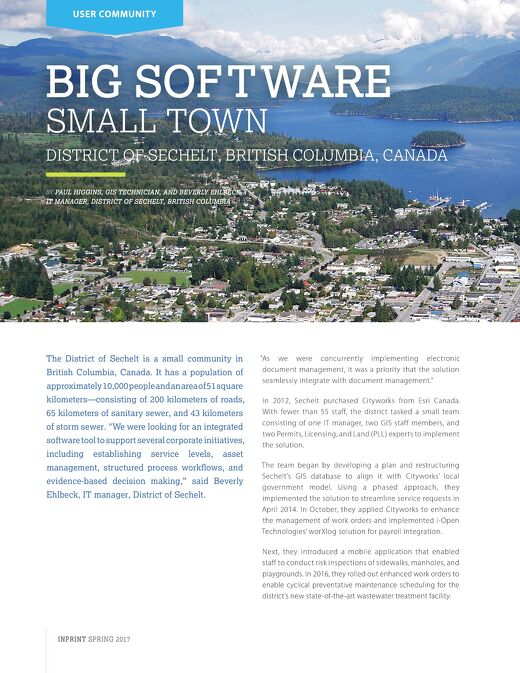 Big Software: Small Town