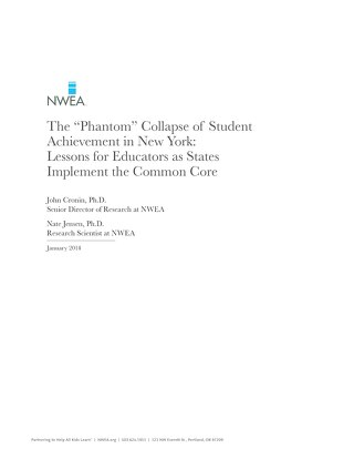 """The """"Phantom"""" Collapse of Student Achievement in New York"""