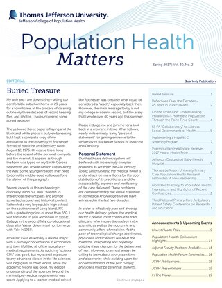 Population Health Matters Spring 2017