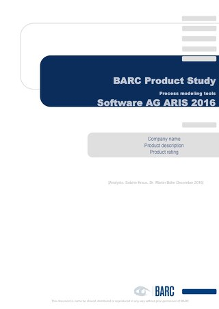 BARC Product Study: Software AG ARIS 2016
