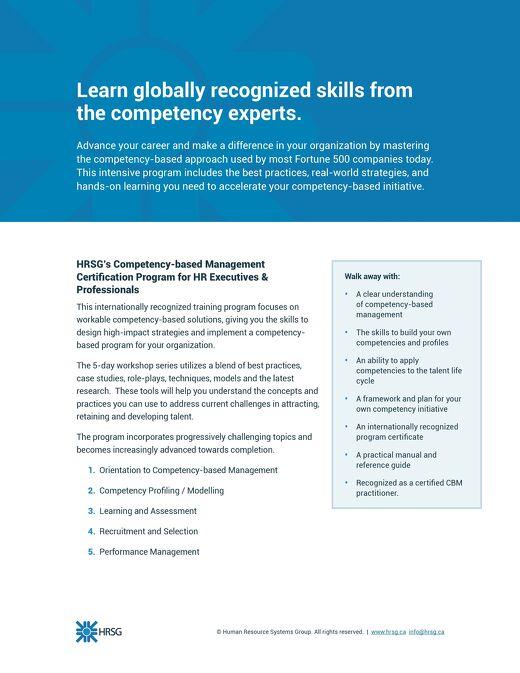 HRSG 5-day CBM Training Program