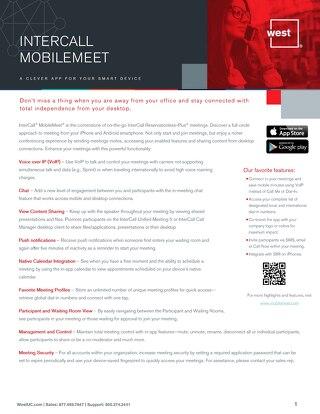 MobileMeet - Overview