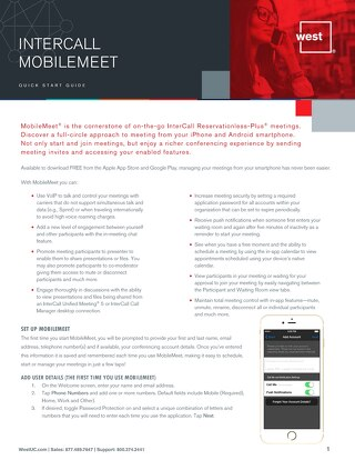 MobileMeet - Quick Start Guide