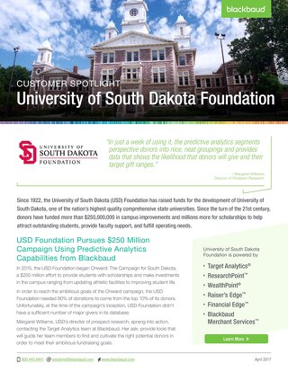 University of South Dakota Foundation Pursues $250 Million Dollar Campaign