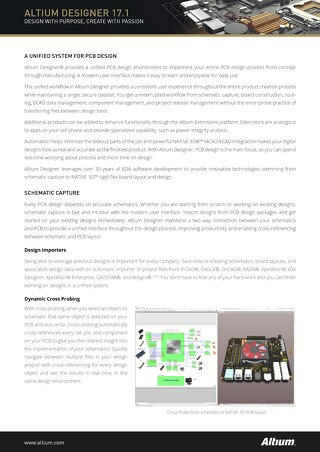 Product Overview Collateral Altium Designer 17.1