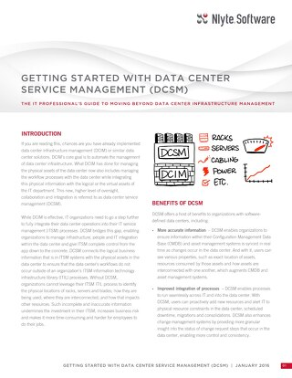 Getting Started with DCSM white paper