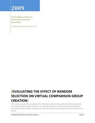 Evaluating the Effect of Random Selection on Virtual Comparison Group Creation