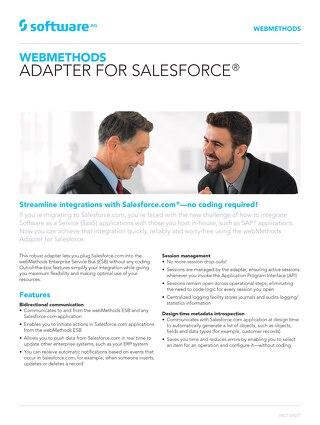 webMethods Adapter for Salesforce®