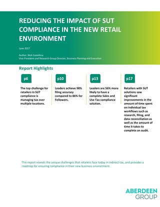 Aberdeen Retail Sales and Use Tax Compliance Report