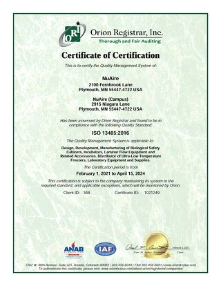 [Certificate] ISO Certificate 13485:2003