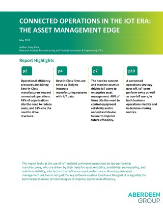 Smart Connected Operations in the Era of IoT: The Asset Management Edge