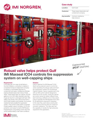 ICO4 Controls Fire Suppression System