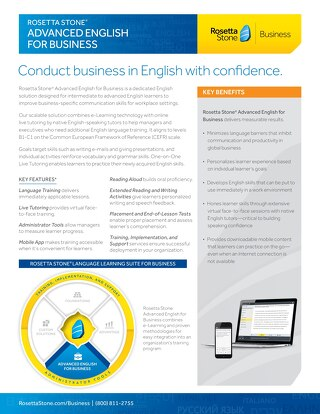 Advanced English for Business Fact Sheet